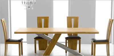 atkinson oak dining table - Contemporary Oak Dining Table