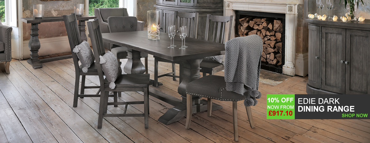 Edie Dark Wooden Dining Range - 10% Off