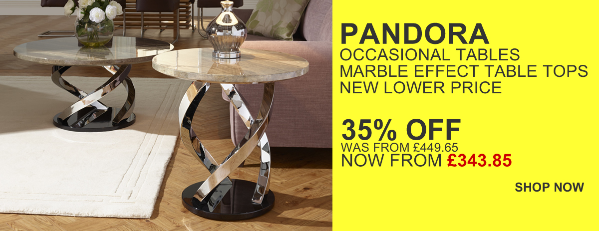 HOMEPAGE - Pandora Marble Occasional Range - 35% Off
