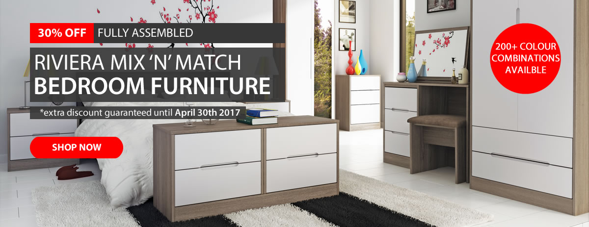 30% off Riviera Bedroom Furniture