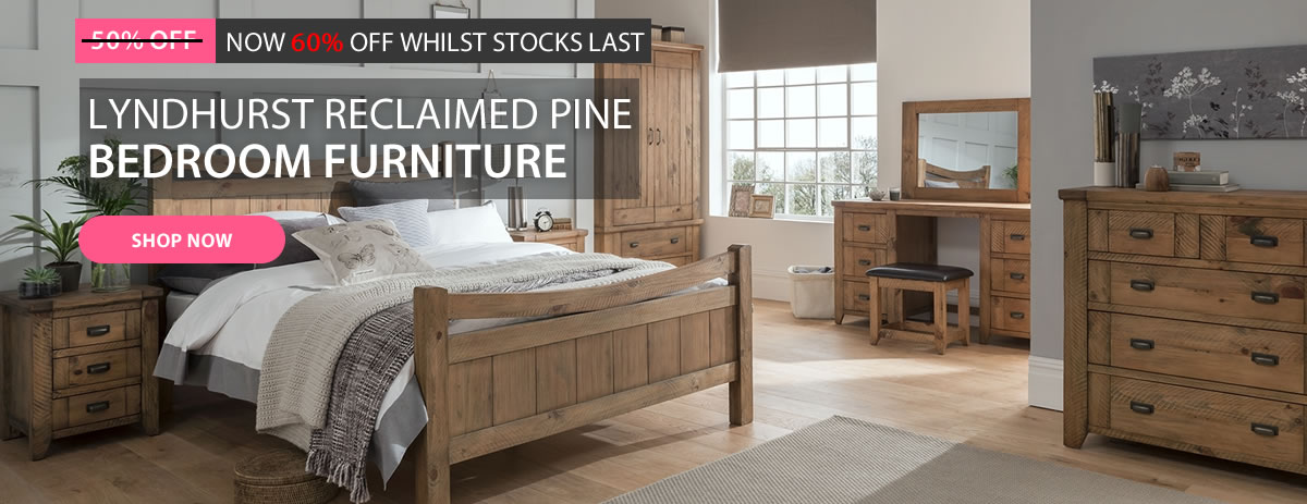 60% Off Lyndhurst Pine Bedroom Range