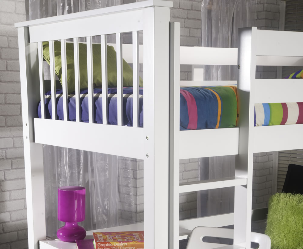 Paulie White Study Bunk Bed