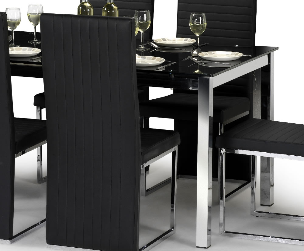 Tempo Black Glass Dining Table and Chairs : 10002 from www.franceshunt.co.uk size 1000 x 824 jpeg 89kB