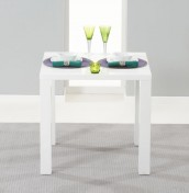 Holmes Small White High Gloss Kitchen Table