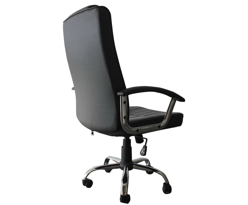 breckenridge black faux leather office chair frances hunt