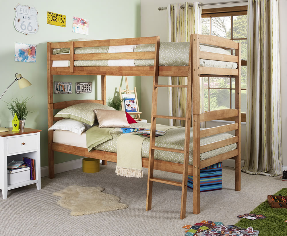 clarke hevea honey oak bunk bed bunk bed only