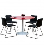 Mersey Red Round Dining Table and Chairs