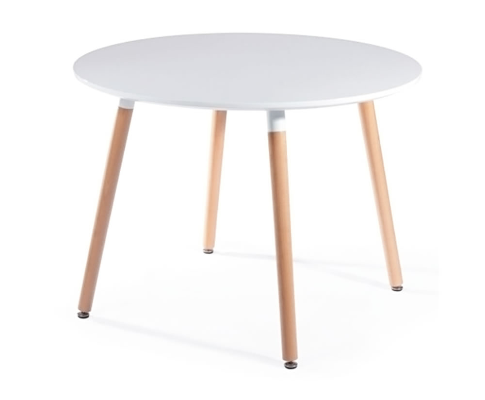 Round dining table white for White round dining table