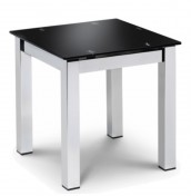 Tempo Black Glass Lamp Table
