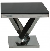 Ellen Black Glass Lamp Table