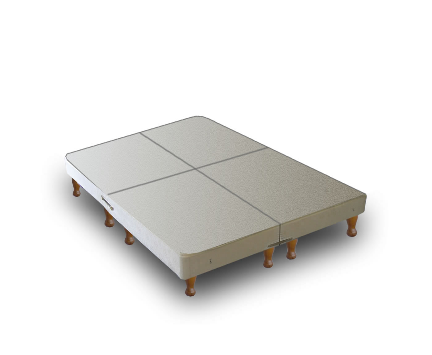Warwick divan base only on legs 4 parts for Divan double bed base