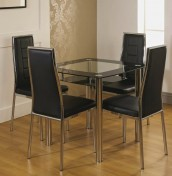 Lawson Glass Kitchen Table and Chairs