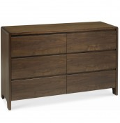 Tonino Walnut 6 Drawer Wide Chest