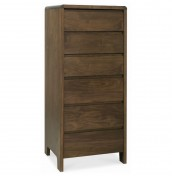 Tonino Walnut 6 Drawer Tall Chest