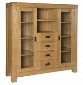 Rosario Oak Shelved Display Unit