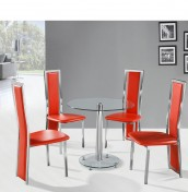 Pilotta Clear Glass Dining Set
