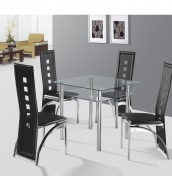 Enrico Clear Glass Dining Set