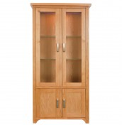 Meadow Oak Two Door Display Unit