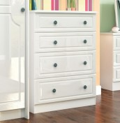 Abberley White Gloss 4 Drawer Deep Chest