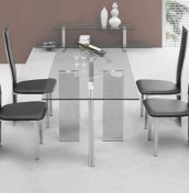 Tetris Large Clear Glass Dining Set
