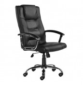 Gloucester Black Leather Faced Desk Chair