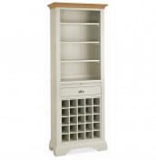 Hampstead Soft Grey and Oak Wine Unit