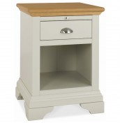 Hampstead Soft Grey and Oak Lamp Table