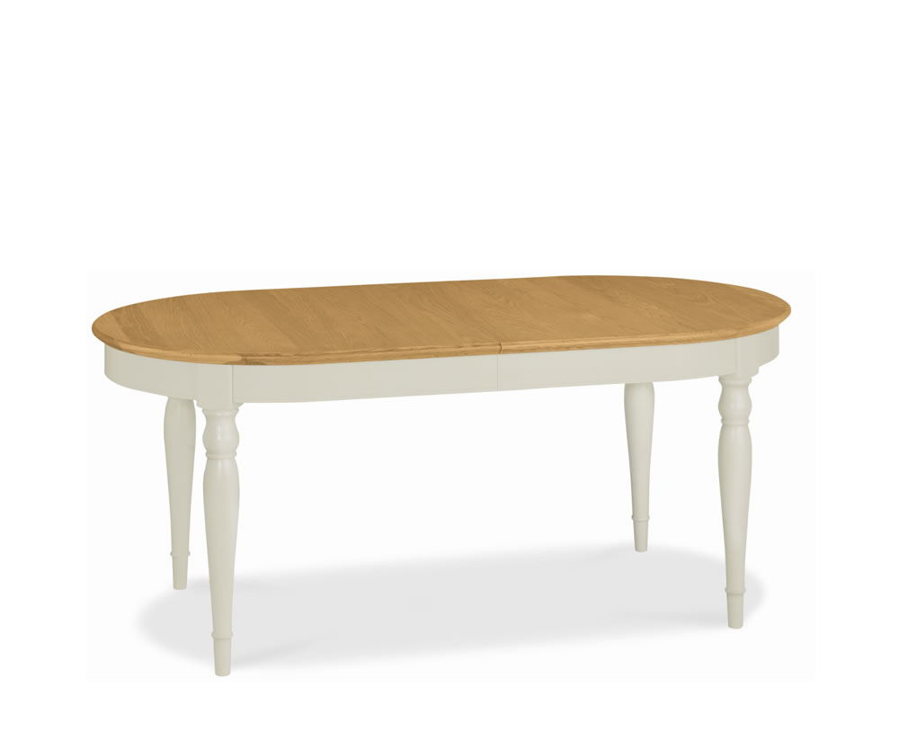 Hampstead Soft Grey and Oak Oval Extending Dining Table : 107101 from www.franceshunt.co.uk size 1000 x 824 jpeg 25kB