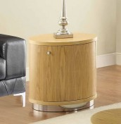 Sasha Oak LED Mini Bar Lamp Table