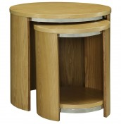 Zennor Round Oak Veneered Nest of Tables