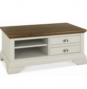 Hampstead Soft Grey and Walnut Coffee Table