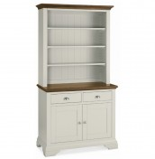 Hampstead Soft Grey and Walnut Display Unit