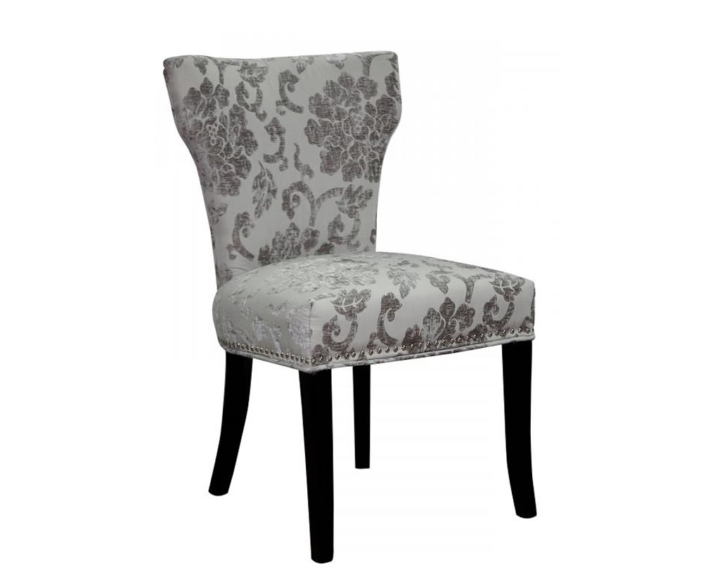 Berkshire Mink Baroque Fabric Dining Chairs