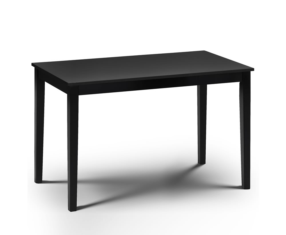 morgan black lacquered dining table rectangular dining table only