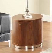 Sasha Walnut LED Mini Bar Lamp Table