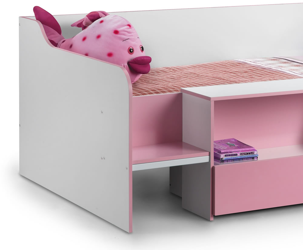 Ellie Kids Pink Low Sleeper Bed