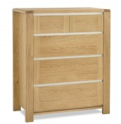 Petra Oak 2+3 Drawer Chest