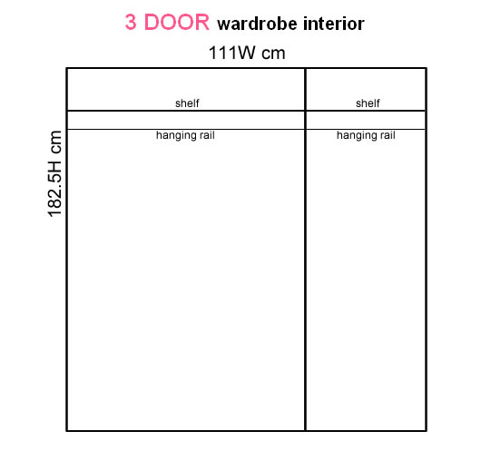 Levante Two-Tone 3 Door Wardrobe