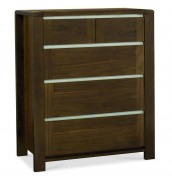 Petra Walnut 2+3 Drawer Chest