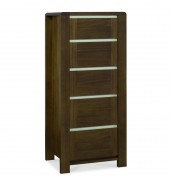 Petra Walnut 5 Drawer Tall Chest