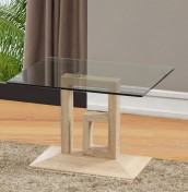 Creston Oak Effect and Glass Lamp Table