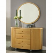 Wessex Beech 4 Drawer Chest with Mirror