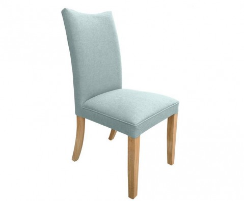sampson duck egg blue fabric dining chairs