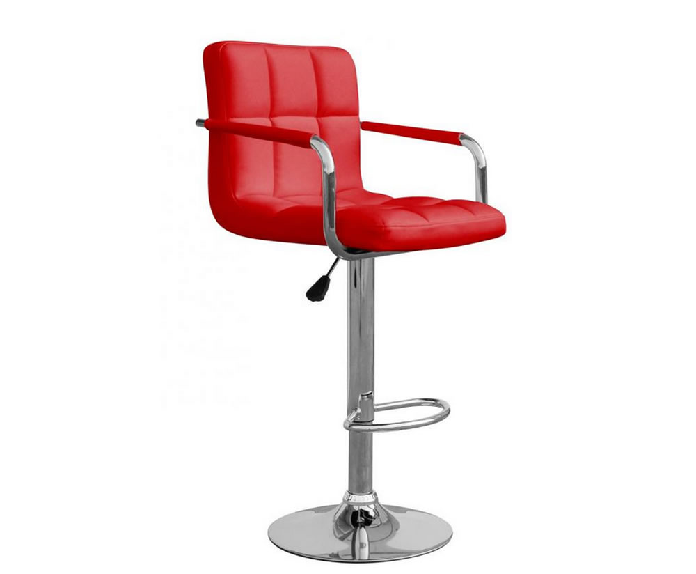 Clifford Red Leather Match Bar Stool Frances Hunt