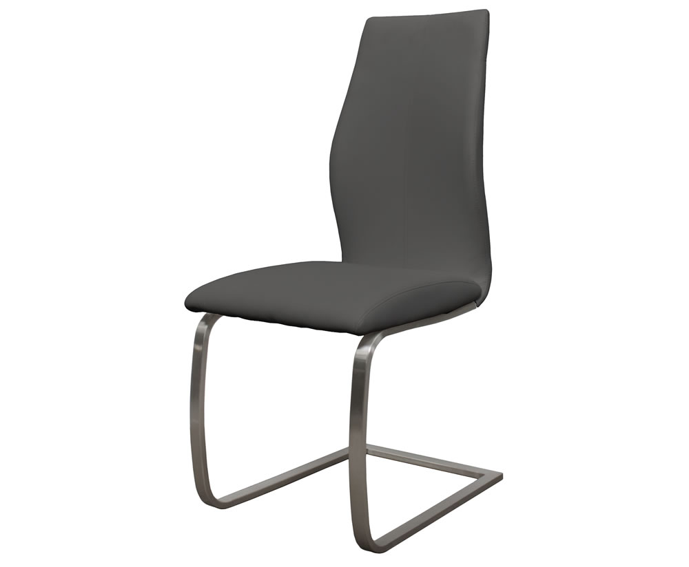goldman grey faux leather dining chair. Black Bedroom Furniture Sets. Home Design Ideas