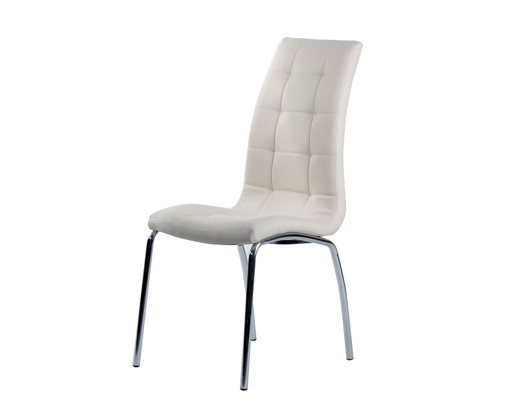 simone ivory faux leather dining chair