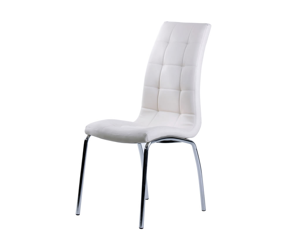 Simone White Faux Leather Dining Chair