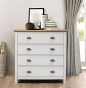 Evelyn Two-Tone 4 Drawer Chest