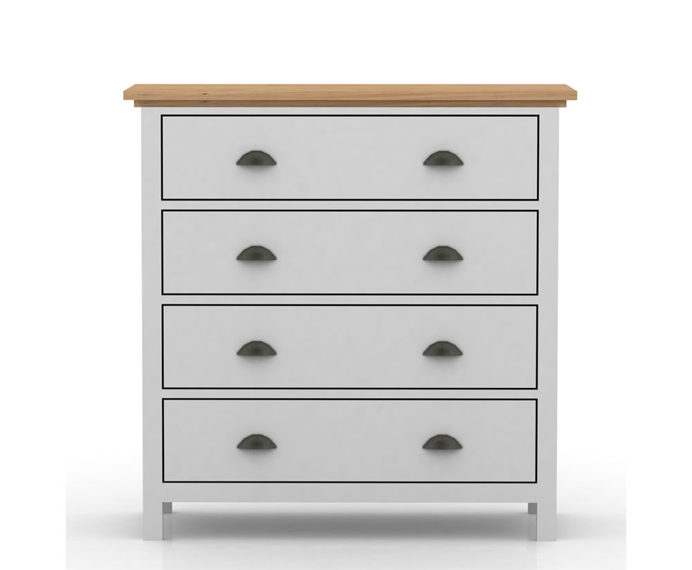 Evelyn Two Tone 4 Drawer Chest