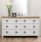Evelyn Two-Tone 6 Drawer Chest